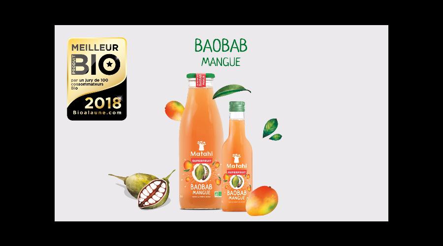 info presse le jus de baobab matahi lu meilleur produit bio 2018 bio la une. Black Bedroom Furniture Sets. Home Design Ideas