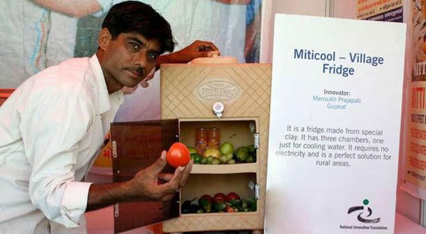 Inde il cr e un frigo r volutionnaire qui fonctionne - Frigo qui fait de la glace ...