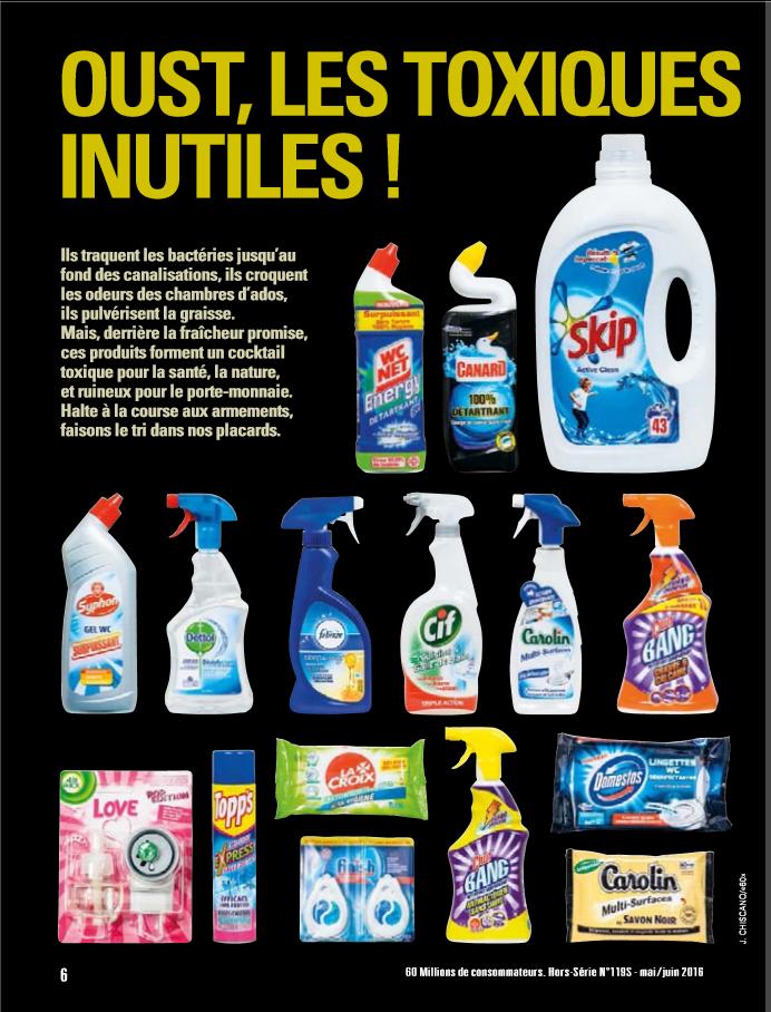 Substances toxiques les pires produits m nagers viter for Quelle tva pour quel produit