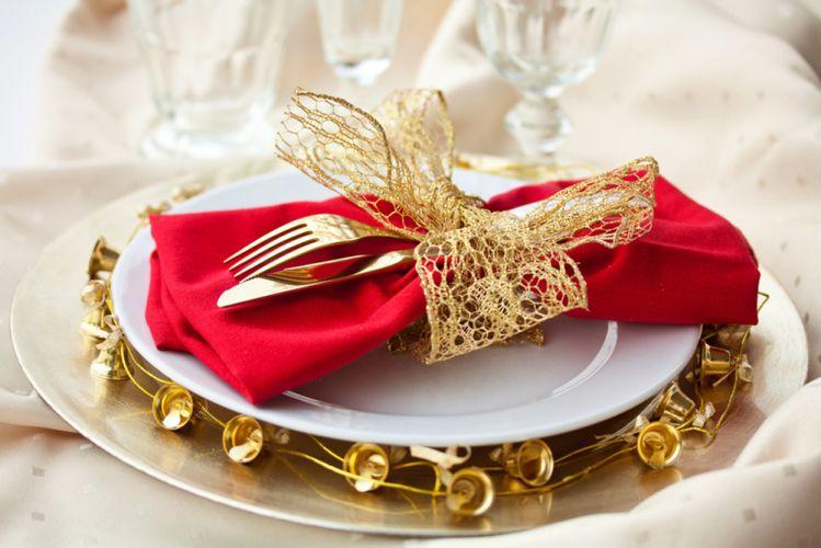 Assiette de Noël présentée sur table