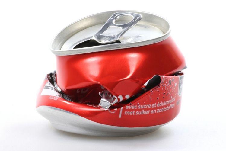 Canette de Coca écrasée