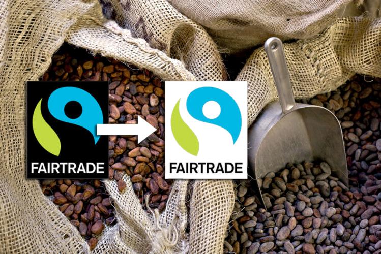 Labels Fairtrade et FSP de Max Havelaar Sacs de fèves de cacao