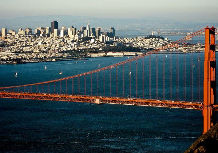 Baie de San Francisco et Golden Gate Bridge