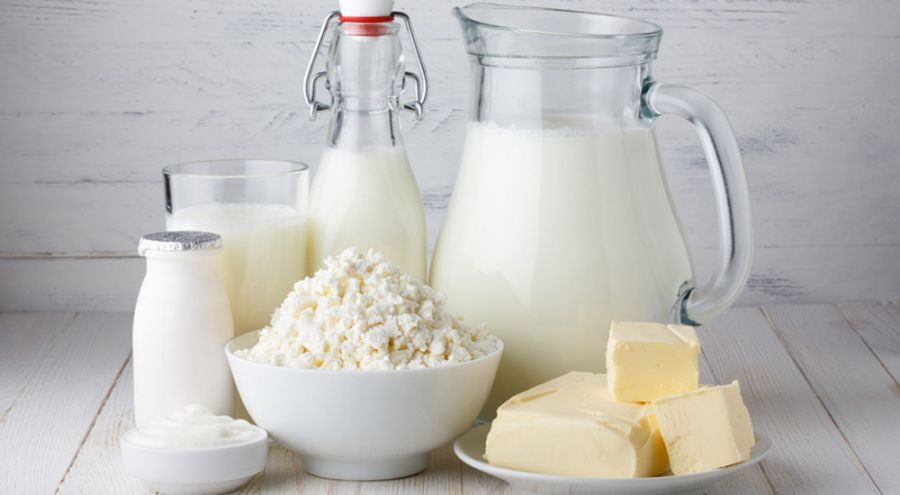 Pack shot de différents produits laitiers