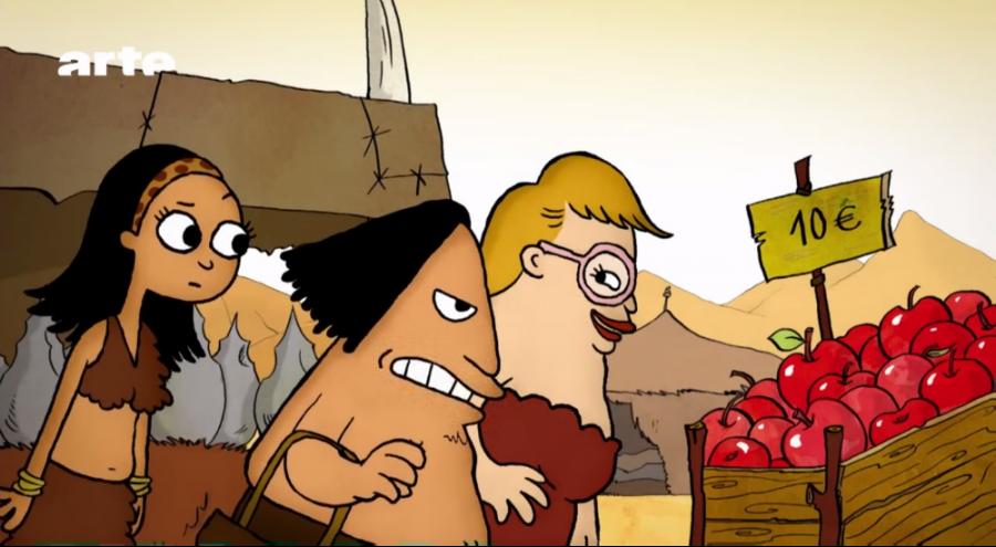La famille Dotcom. issue de la série d'animation Silex and the City