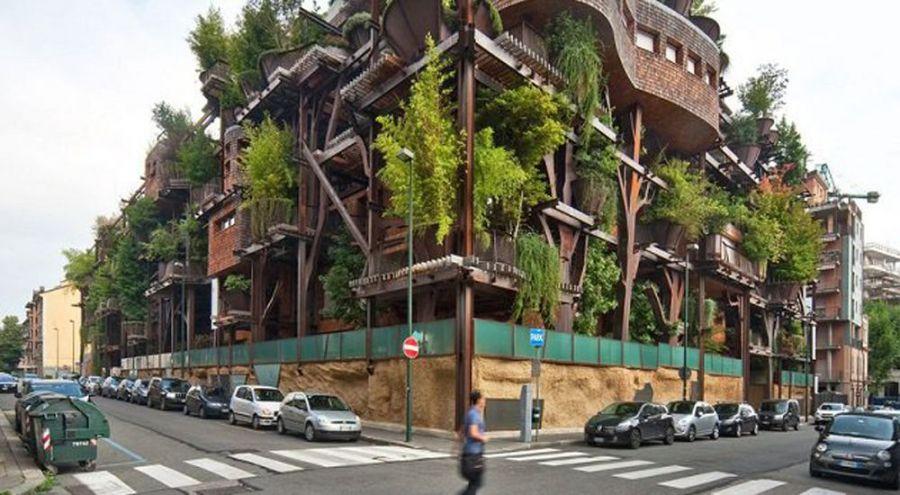 Photo de la cabane urbain située à Turin