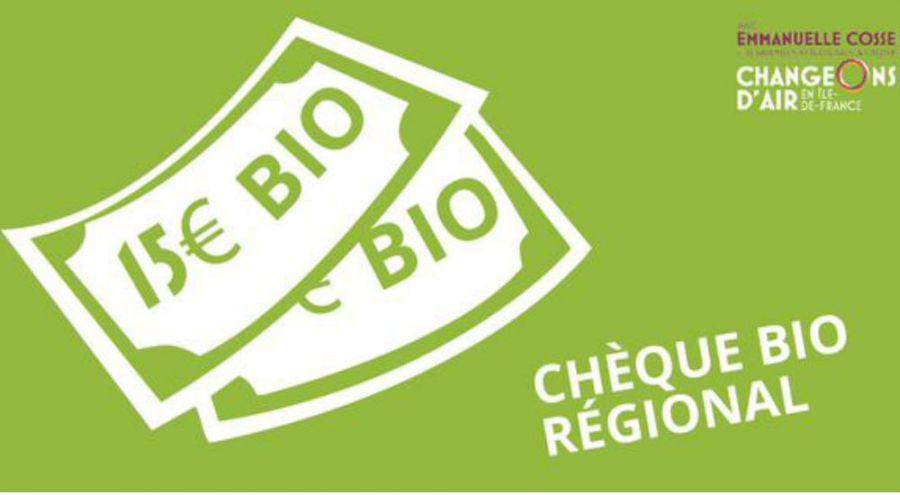 Les chèques bio de 15 euros proposés par EELV