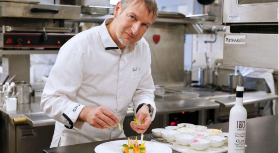 Paolo Sari, chef du restaurant bio l'Elsa, en principauté de Monaco