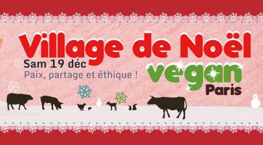 affiche du village de Noël vegan de l'association L214