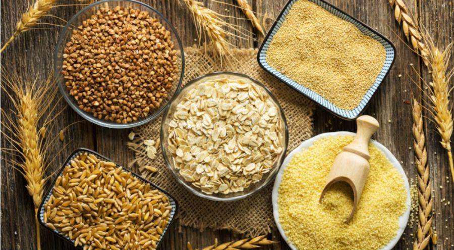 des céréales sur une table