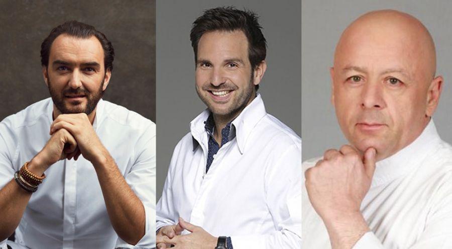 Cyril Lignac,Christophe Michalak, Thierry Marx
