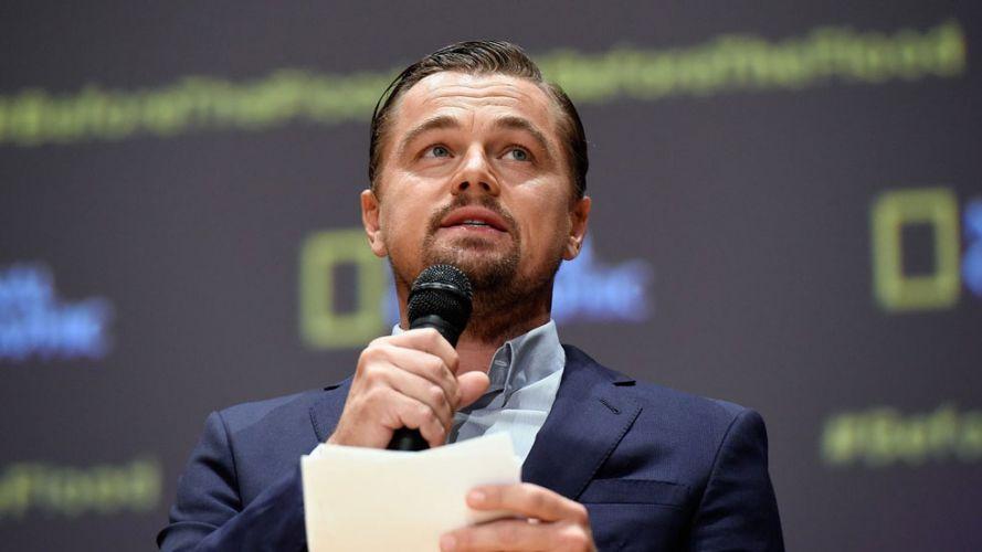 Leonardo Dicaprio pendant un discourt