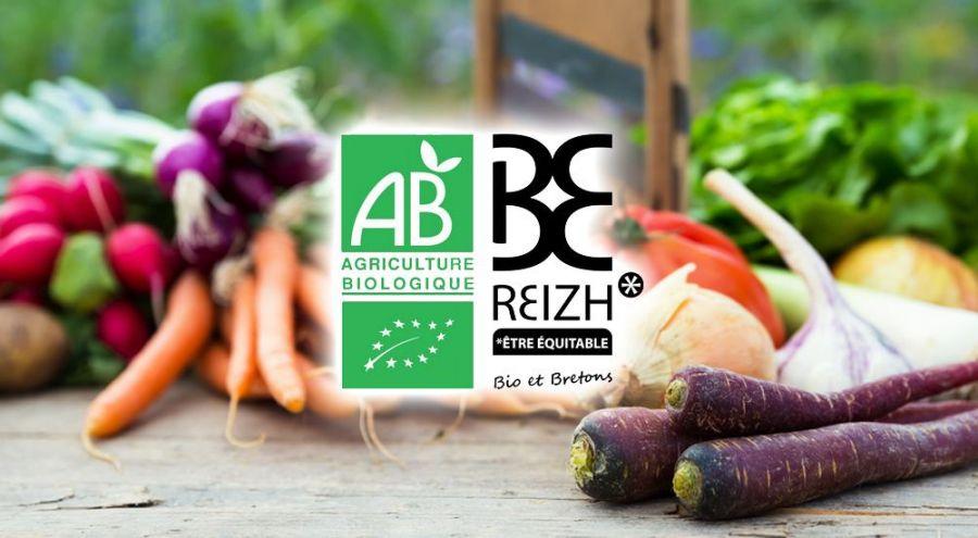 Le logo Bio Breton à côté du label AB