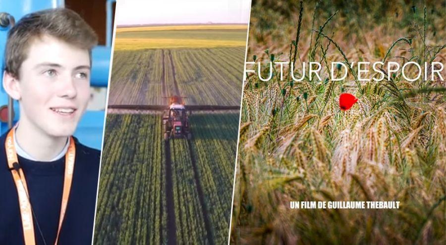 un jeune homme réalise un documentaire sur l'agriculture