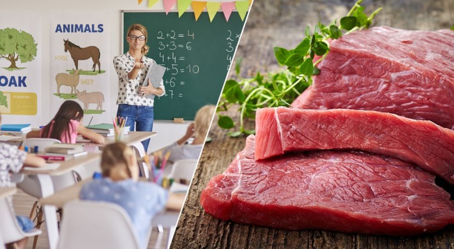 Le lobby de la viande donne des cours aux élèves