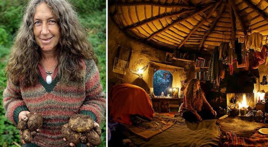 Emma Orbach présentant ses légumes du potager