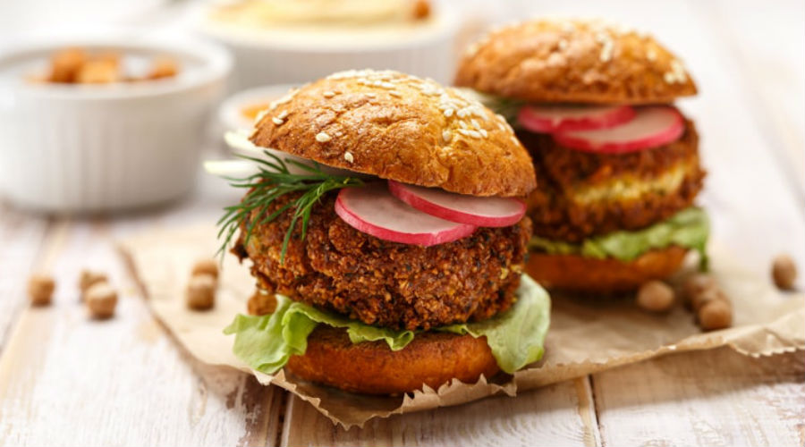 un hamburger végétarien