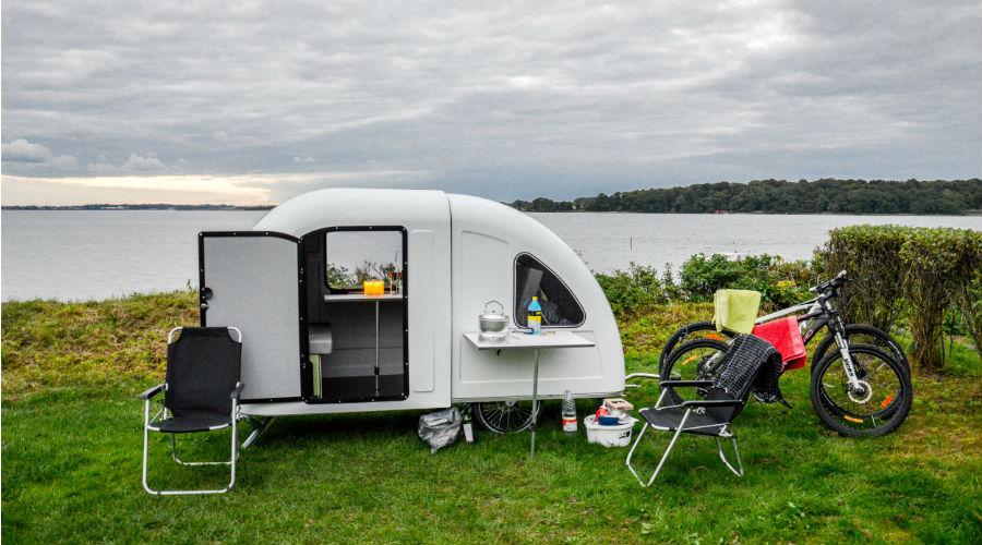 pour voyager colo emportez votre caravane bicyclette avec ce v lo camping bio la une. Black Bedroom Furniture Sets. Home Design Ideas