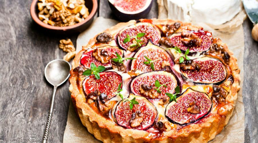 D couvrez la recette originale de tarte aux figues ch vre et miel bio la une - Recette tarte salee originale ...