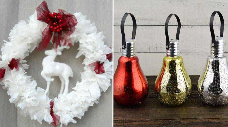 8 idées pour réaliser ses décorations de Noël avec de la récup