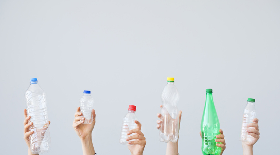 bouteilles plastique déchets