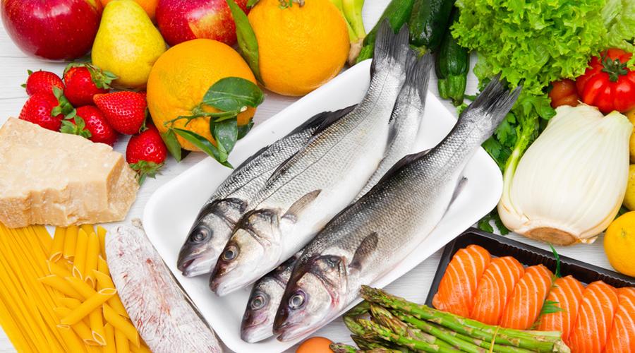régime méditérannéen : poisson, oeuf, beurre