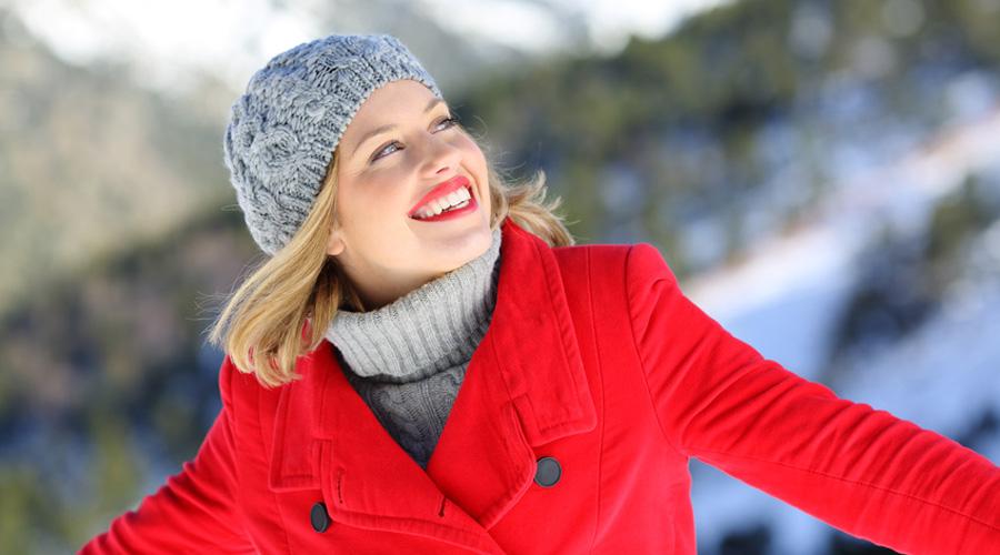femme hiver énergie