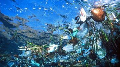 des plastiques dans l'océan