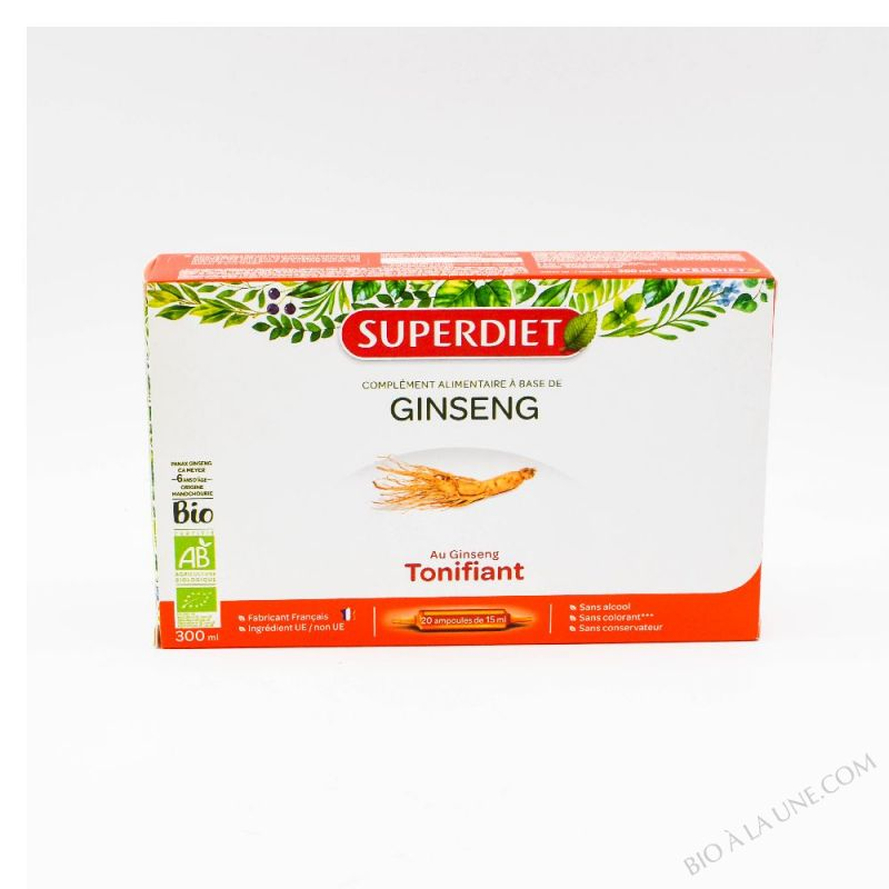 GINSENG AMPOULES - 20X15ML