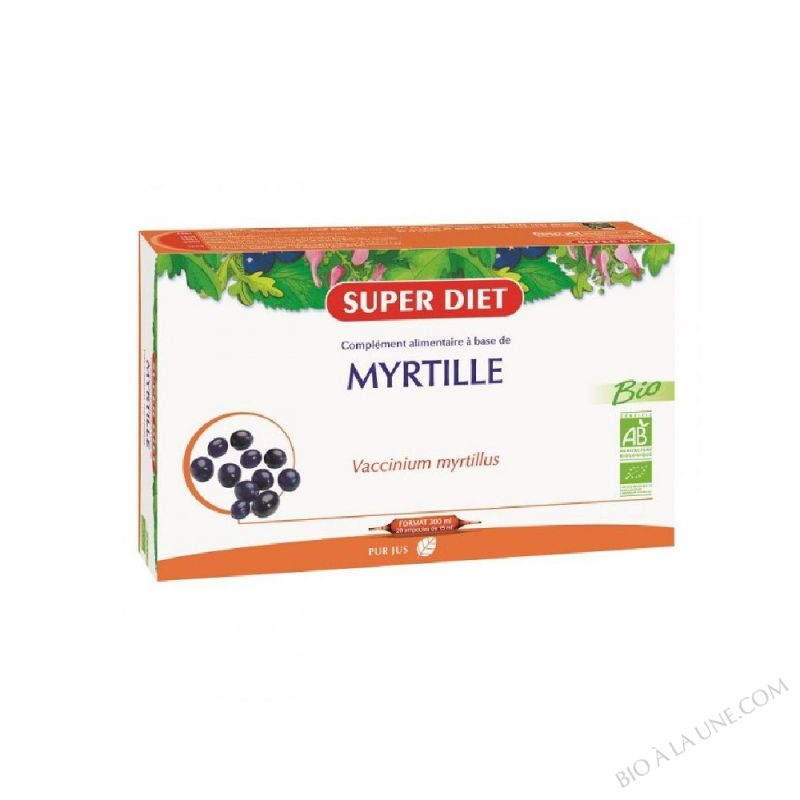 MYRTILLE AMPOULES 15ML (20) SUPER DIET