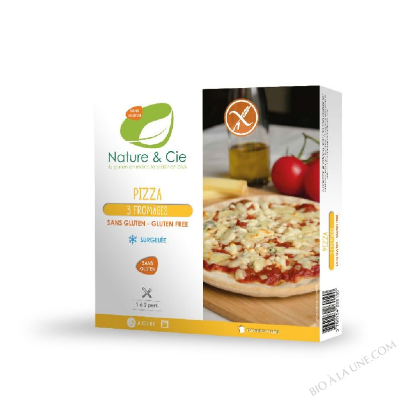 PIZZA 3 FROMAGES 280GR NATURE ET COMPAGNIE