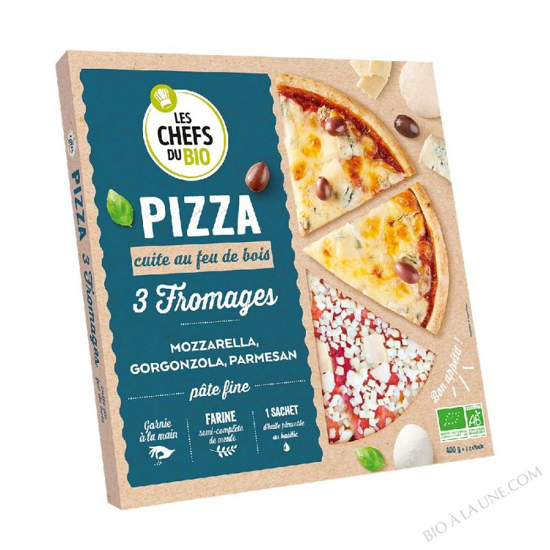 Pizza 3 fromages- 400 g