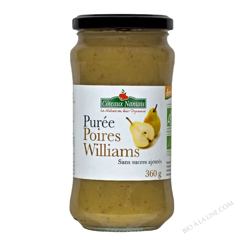 Puree poires Williams Bio et Demeter 360g
