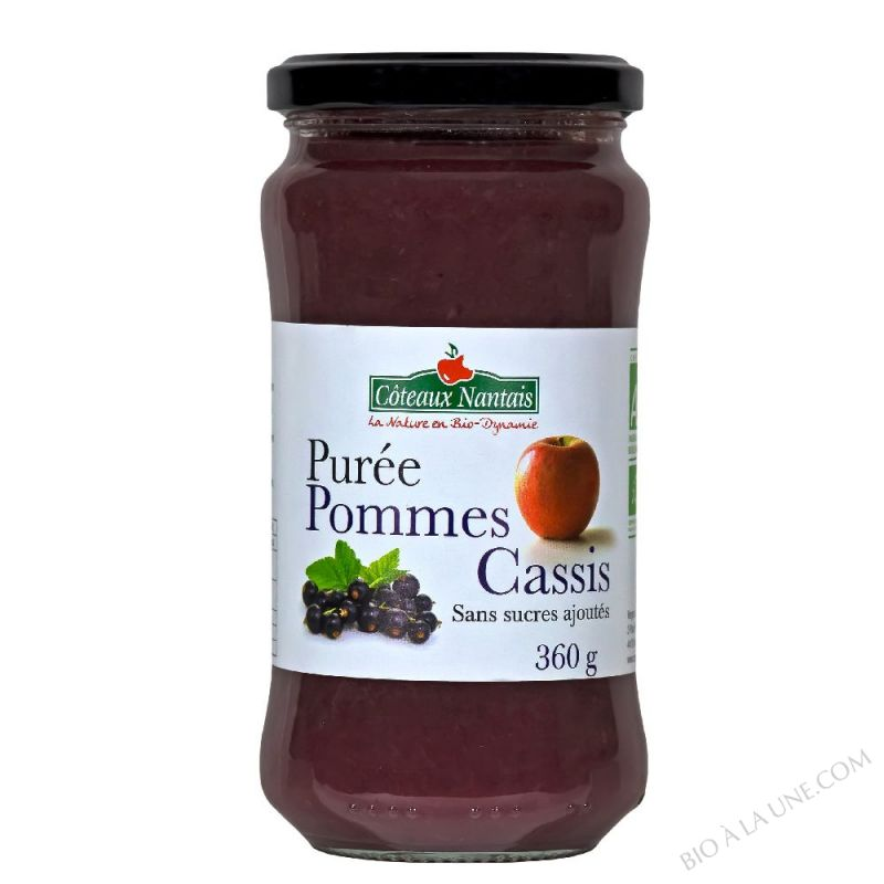 PUREE POMMES CASSIS - 360G