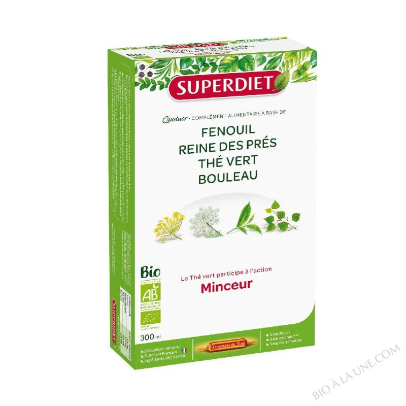 QUATUOR MINCEUR (20) 15ML SUPER DIET