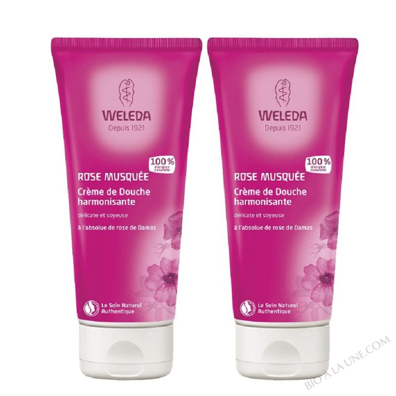 STOPDUO CREME DOUCHE ROSE 200ML WELEDA