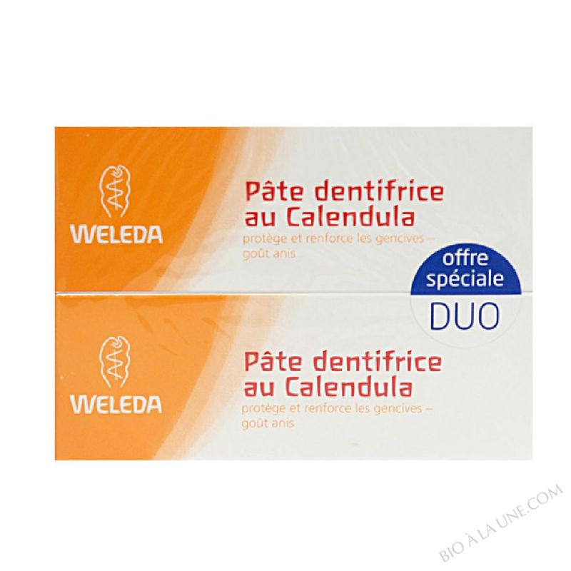 Lot de 2 Dentifrices Calendula Bio 75ml