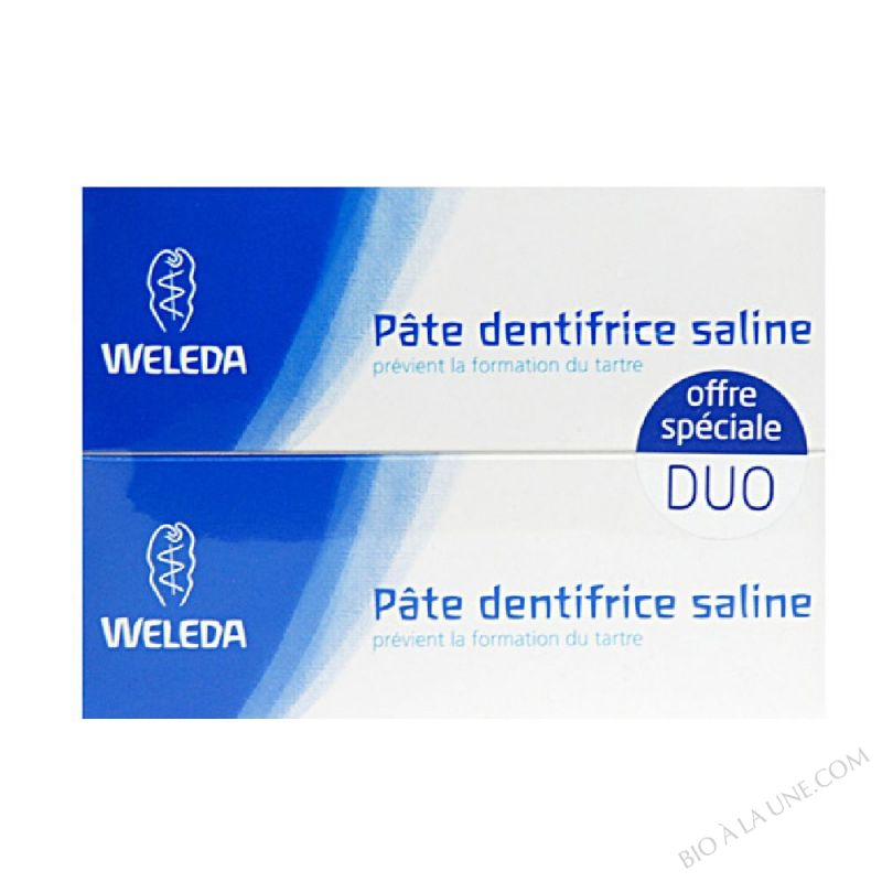 Lot de 2 pates dentifrices salines
