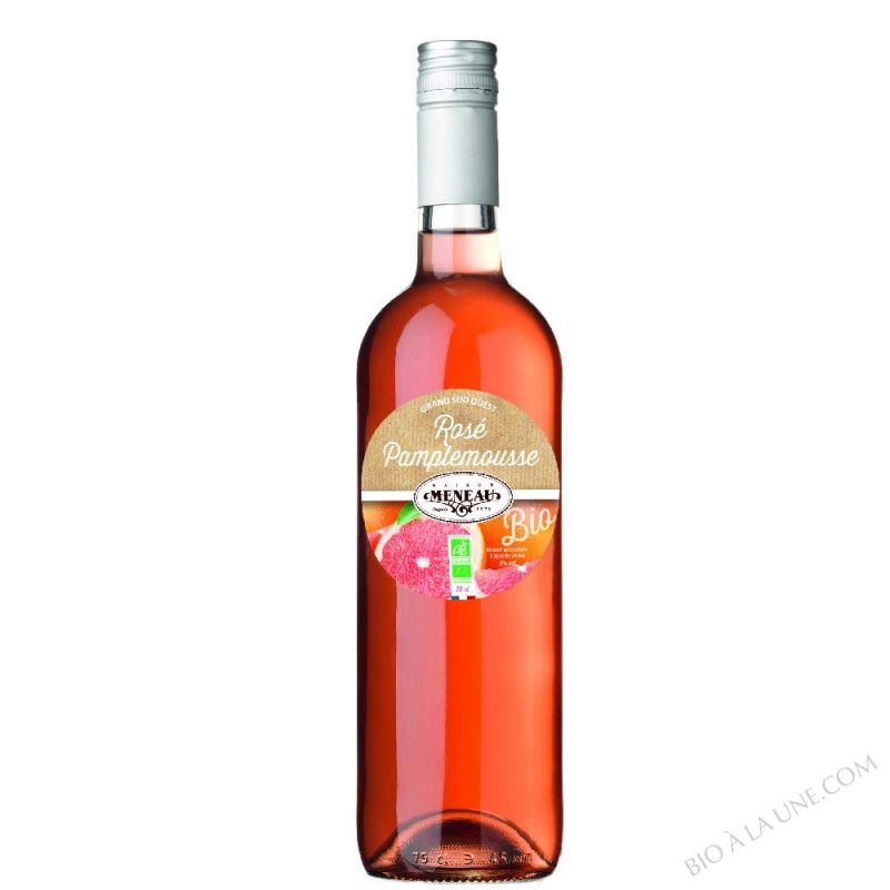 Vin Rose Pamplemousse Bio 75 cL