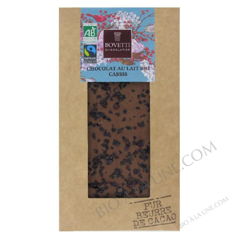 CHOCOLAT LAIT CASSIS 100GR BOVETTI