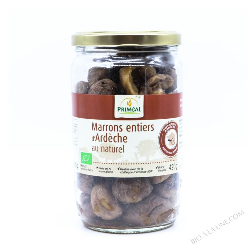 Marrons Entiers au Naturel 420g