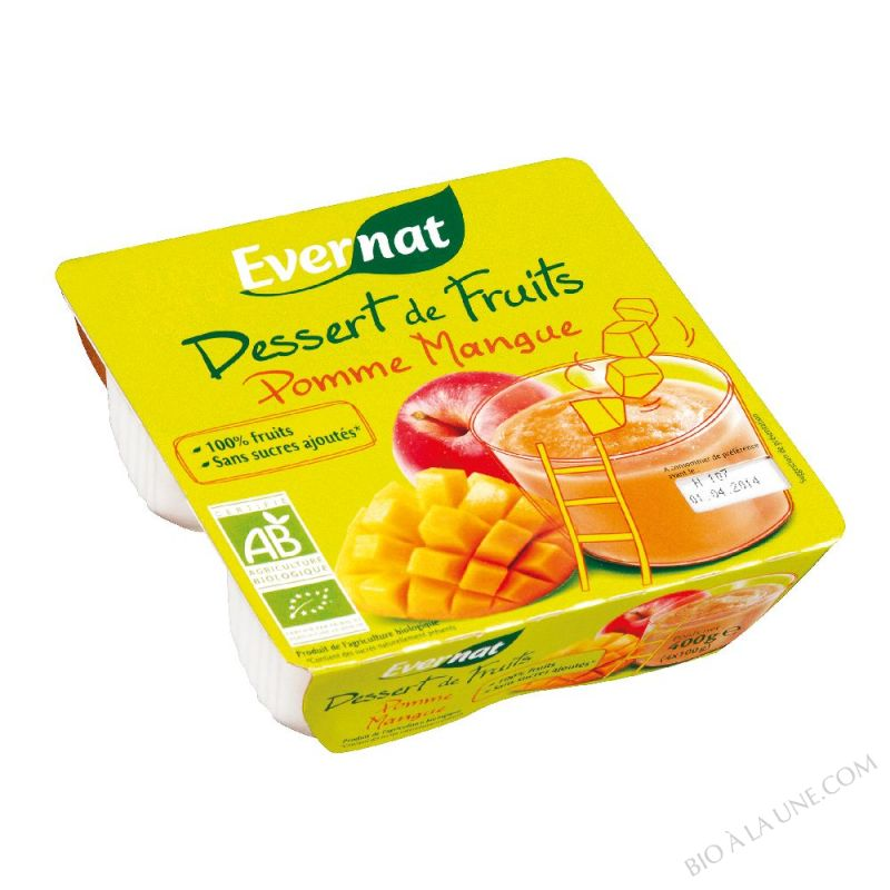Dessert de Fruits Pomme Mangue 4x100g