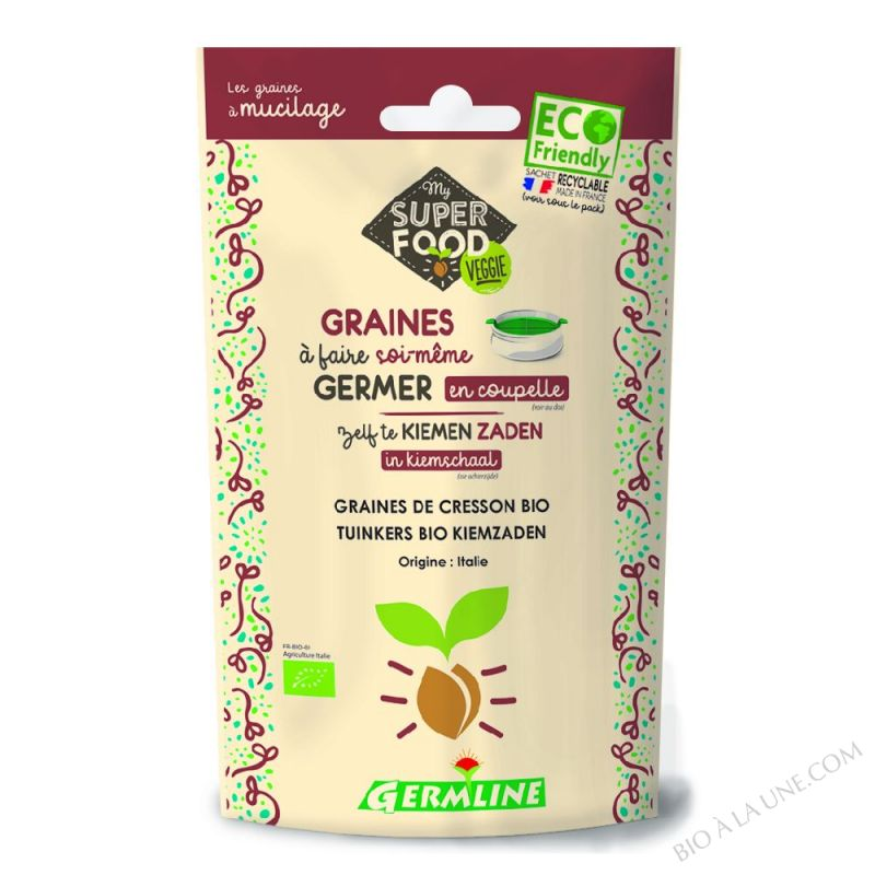 Graines à Germer Bio Cresson 100g