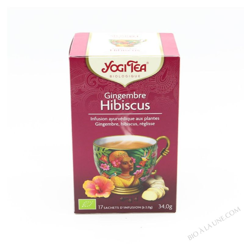 Infusion biologique gingembre Hibiscus 17 sachets