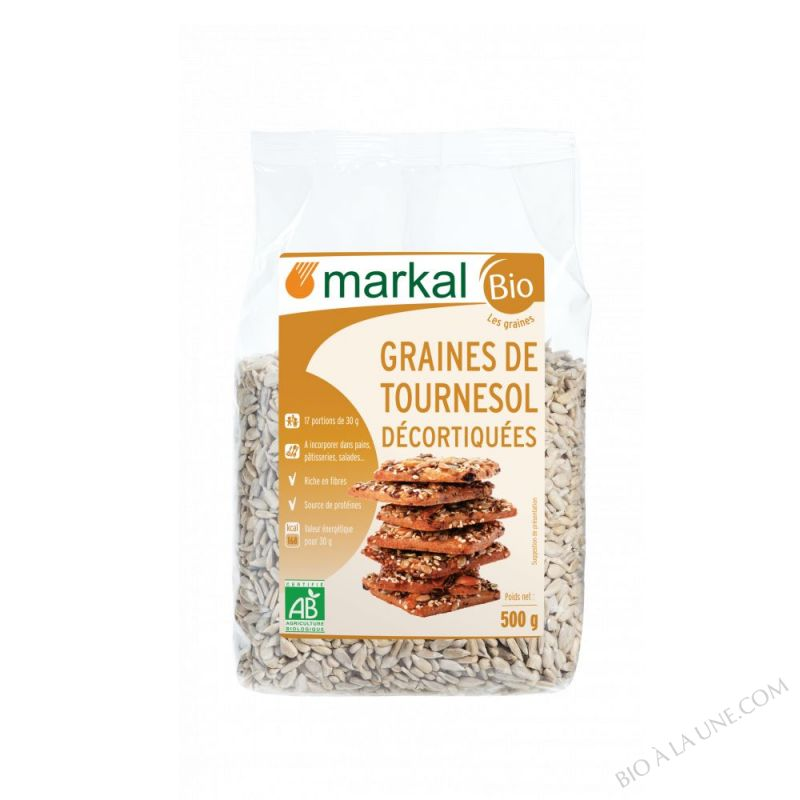Graines de tournesol decortiquees 500g