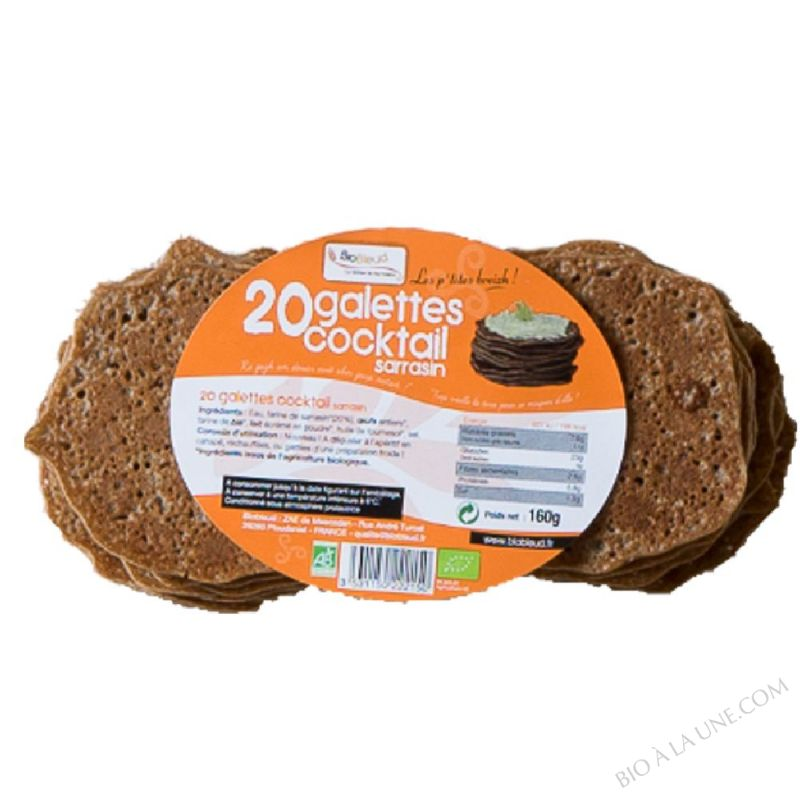 20 Galettes cocktail sarrasin - 160 g