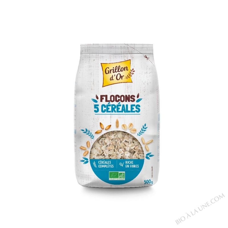 Flocons 5 cereales toastees 500g