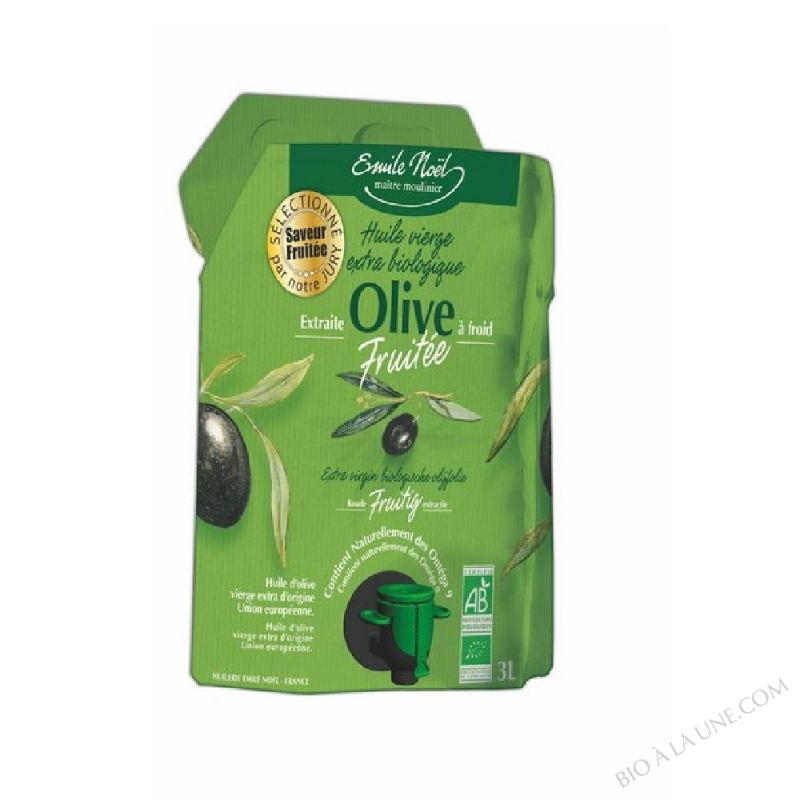 Huile d'olive vierge extra fruitee bio 3 L