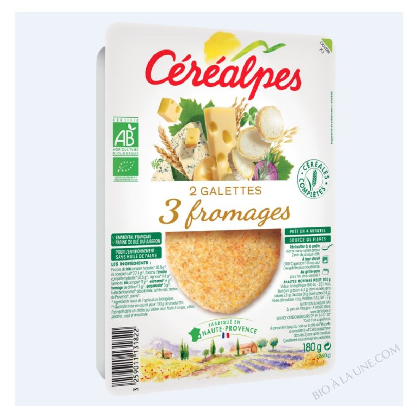 GALETTES 3 FROMAGES - 2 X 100 G