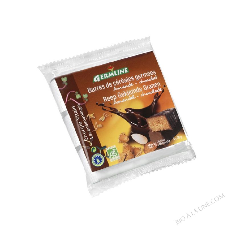 Barres de Cereales Germees Amande Chocolat 3 x 30g